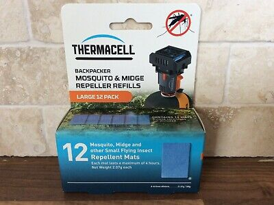 Thermacell Backpacker Refill Pack Mosquito & Midge Repellent Mat 12 Pack camping