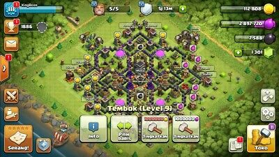 FLASH SALE] CLASH of Clans TH 9 Heroes 9/3, 490 GEMS
