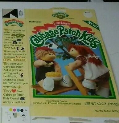 VTG 1985 Cabbage Patch Kids Tree House Cereal Box Ralston Purina