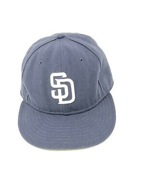 finest selection beab0 20dfe New Era 59Fifty Hat MLB San Diego Padres Mens Womens Navy Blue Fitted 5950  Cap