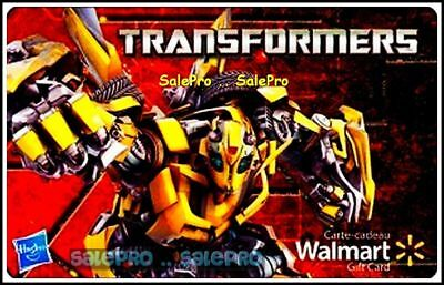 WALMART TRANSFORMERS by HASBRO FIGURINES WARIORS ENG/FR COLLECTIBLE GIFT CARD