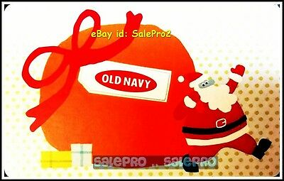 Old Navy Santa Claus Carrying Heavy Christmas Present Bag Collectible Gift Card