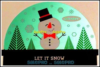 Old Navy Usa Merry Christmas Snowman Let It Snow Rare New Collectible Gift Card