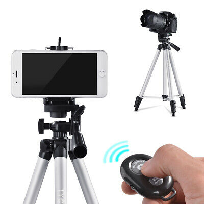 Professional Adjustable Tripod Stand Camera Cell Phone Holder + Remote TK106