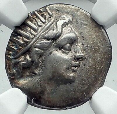 RHODES Greek Island off Caria Genuine Ancient 88BC Silver Greek Coin NGC i78063