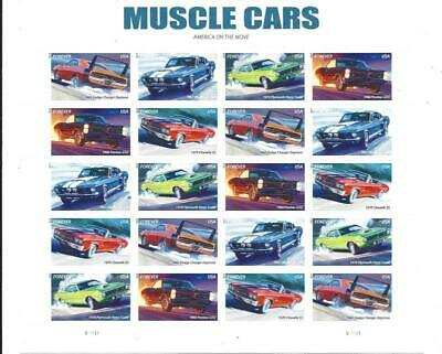 Us Scott 4743 - 4747 Muscle Cars Pane Of 20 Stamps Forever Mnh