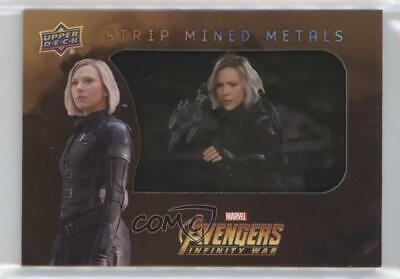 2018 Upper Deck Avengers Infinity War Strip Mined Metals # Black Widow SP p1l