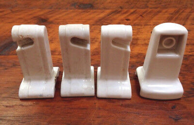 Vtg Antique Porcelain Art Deco Bathroom Towel Toilet Roll Brackets Set Various