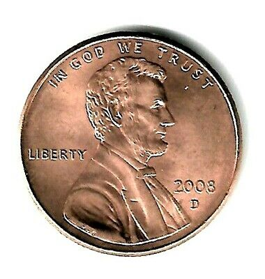 2008 D Lincoln Memorial Penny, Cent. BU Coin, Fill Your Coin Book, #9657