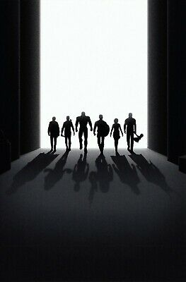Avengers Endgame Silhouette Marvel Poster A4 A3 A2 A1 Cinema Movie Large Format