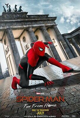 SPIDER-MAN FAR FROM HOME POSTER A4 A3 A2 A1 CINEMA MOVIE LARGE FORMAT #5