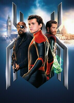 Spider-Man Far From Home Marvel Poster A4 A3 A2 A1 Cinema Movie Textless