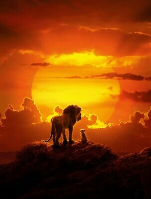 The Lion King Textless 2019 Poster A4 A3 A2 A1 Cinema Movie Large Film Art
