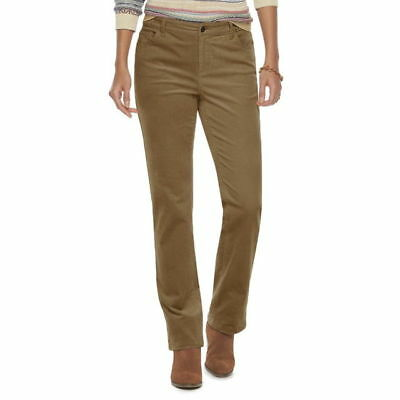 c7f054bf038a99 CHAPS WOMENS CORDUROY Pants Straight Leg Cotton Elastano Solid size ...