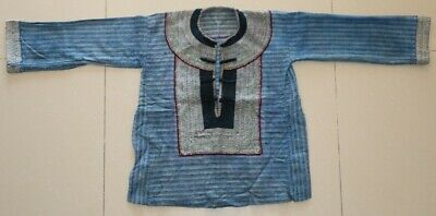 Old tribal chinese minority people's local cloth hand batik costume jacket