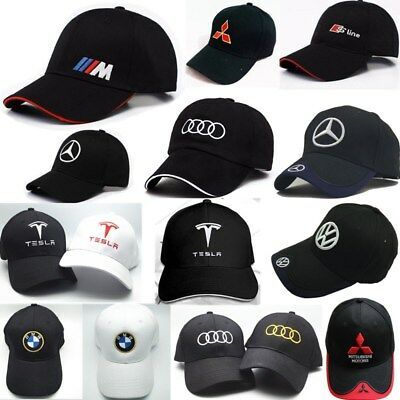 NEW Cap Baseball Stylish Hat Audi Car Adults Golf Embroidery Black Red Snapback