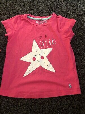 Joules Girls Pink Top - Im A Star Age 5-6 Years