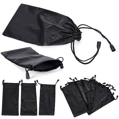 3X Microfiber Pouch Bag Soft Cleaning Case Sunglasses Eyeglasses Glasses Black