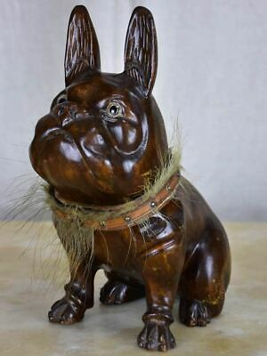 Antique French bulldog tobacco container