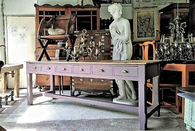 A Beautiful 19Th Century Farmhouse Table/Workbench/Centre Island