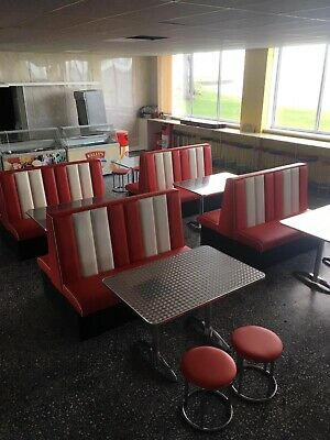 1950's American Booth With option for Table & Base Restaurant Bar, Cafe or Home.