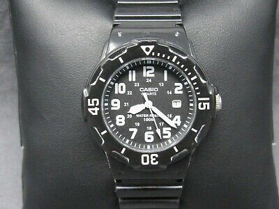 ad3c8a30c82a Vintage CASIO LRW-200H Military Time   Date Black Sport Band   NEW BATTERY  Watch