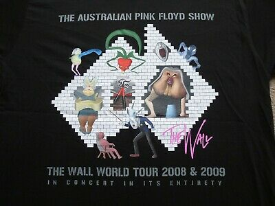 69ecc842 'Australian Pink Floyd Show' (Tribute Band) - Wall 2009 Tour Black T. '