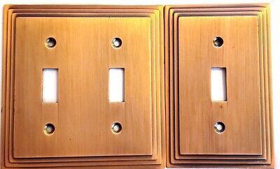 Vintage Amertac 84TT Carriage House Copper Look Switch Plate Covers