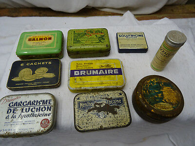 Lot 9 Boite Ancienne Collection Luchon Kalmine Salmon Valda Brumaire ...   Vide
