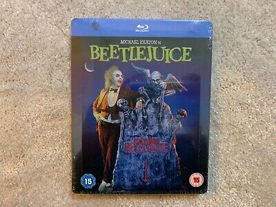Beetlejuice Zavvi Exclusive Steelbook Blu Ray New & Sealed