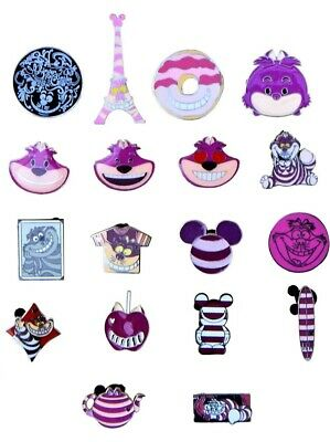Cheshire Cat Themed 5 Disney Park Trading Pins ~ Randomly Assorted ~ Brand NEW