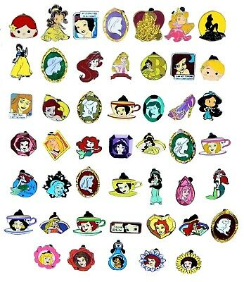 Princess Themed 6 Disney Park Trading Pins Set ~ Randomly Assorted ~ Brand NEW