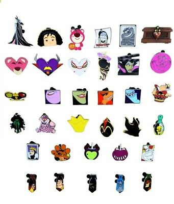 Villains Themed 5 Disney Trading Park Pins Set ~ Randomly Assorted ~ Brand NEW