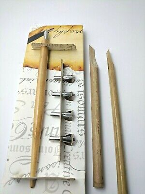 Calligraphy Fountain Pen Set With 5 Italic Nibs,2 Bamboo Reeds  And Isomars Ink