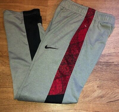 80201c5a487 Boys Nike Gray Black Red Lightweight Sweatpants Sweats Youth Size Small