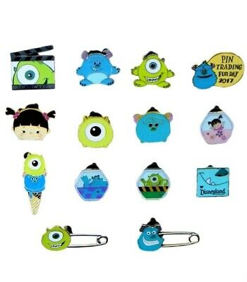 Monsters Inc. / University 5 Disney Trading Pins ~ Randomly Assorted ~ Brand NEW