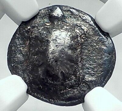 AEGINA Ancient Greek Island Off Attica GREECE Silver Coin TORTOISE NGC i78073