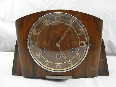 Vintage Clock - Wooden Mantel Type With Westminster Chimes - Marked As Foreign