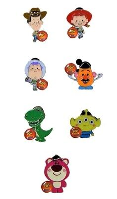 Toy Story Characters Themed 7 Disney Park Trading Pins Starter Set ~ Brand NEW