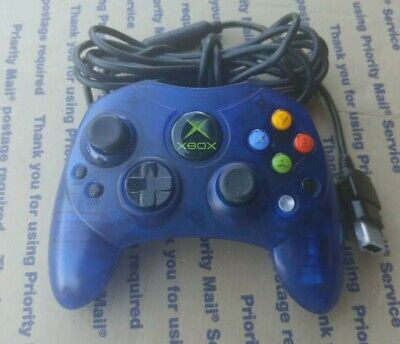 Original OEM XBOX Controller Blue VGUC Cleaned & Sanitized Very Good Pre-owned
