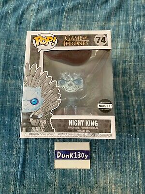 IN HAND! Metallic Night King on Throne Funko Pop Game Of Thrones HBO Exclusive