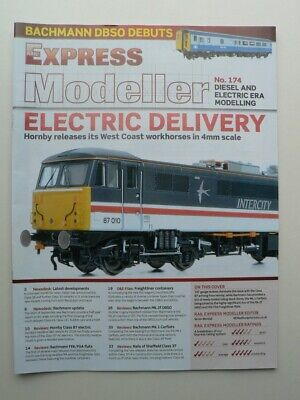 RAIL EXPRESS Modeller magazine No.174   Hornby Class 87, Freightliner containers