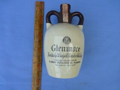 Vintage Empty 1949 Glenmore Kentucky Whisky Bottle With Stamps & Cork
