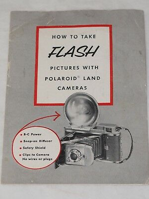 HOW TO TAKE FLASH PICTURES with Polaroid Land Camera 1950'S F1435H
