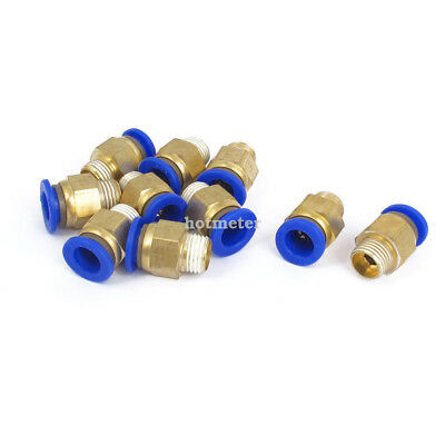H● 10Pcs 10mm Tube 1/4BSP Male Thread Quick Air Fitting Coupler Connector.