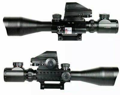 4-12X50  Rifle Scope EG with Holographic 4 Reticle Sight & Red Laser JG8