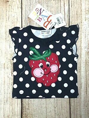 Girls Size 000 ~ Babaluno Blue Shirt with Polka Dots ~ New ~ MBC