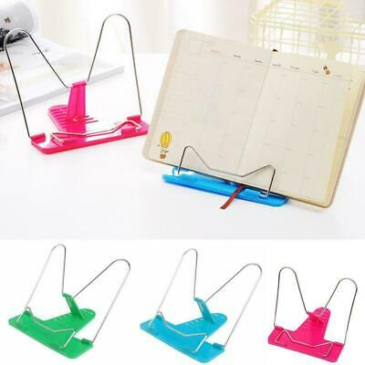 Adjustable Angle Metal Book Stand Foldable Portable Document Reading Holder Hot