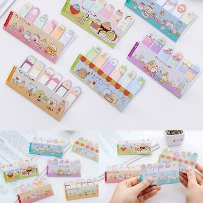2pcs Metal Magnet Bookmarks Cute Cartoon Memo Note Book Marker  Stationery Gift