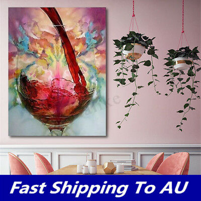 Abstract Giclee Red Wine Oil Painting Canvas Print Wall Art Picture Home